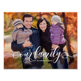 Poster Notre photo de famille moderne de recouvrement de