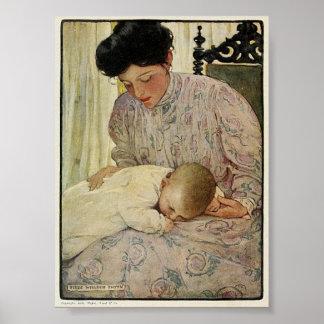 Poster Nourrisson du cru 1909 dans le bras Willcox Smith