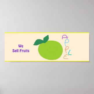 """Poster """"Nous signe d'affiche vendons fruits""""."""