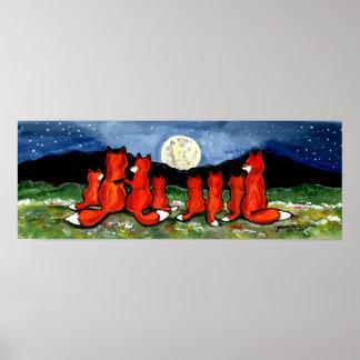 Poster Nuit de observation de marine d'affiche de lune de