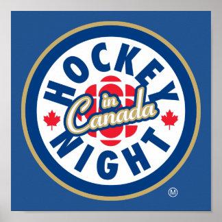 Poster Nuit d'hockey dans le logo du Canada