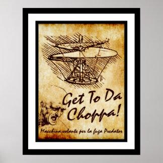Poster Obtenez au DA Choppa - l'hélicoptère de Leonardo
