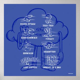 Poster Ondulation de type de nuage des trolls |