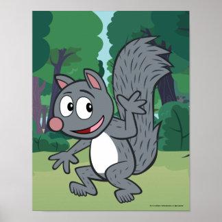 Poster Ondulation grise d'écureuil de Rick | de garde