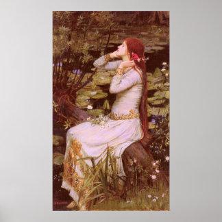 Poster Ophélie par John William Waterhouse