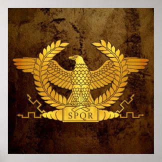 Poster Or patiné romain Eagle sur le bronze