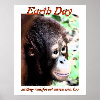 Poster Orang-outan de jour de la terre