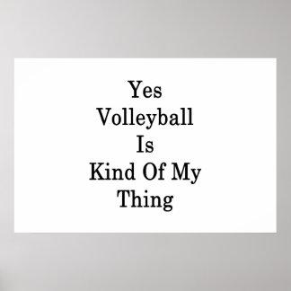 Poster Oui le volleyball est un peu ma chose