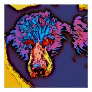 Poster Ours noir de mosaïque