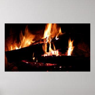 Poster Ouvre une session la photographie chaude du feu de