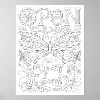 Poster Ouvrez vos ailes et pilotez l'affiche de