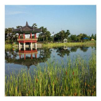 Poster Pagoda coréenne