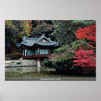 Poster Palais de Changdok dans la chute