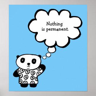 Poster Pandy la citation permanente bouddhiste de panda