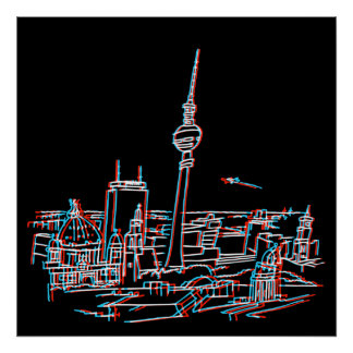 Poster Panorama de Berlin