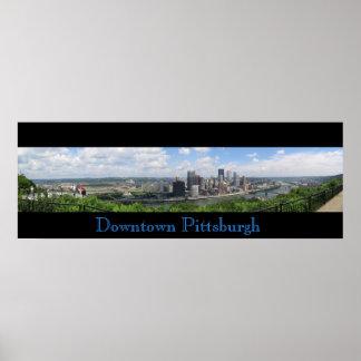 Poster Panorama du centre de Pittsburgh