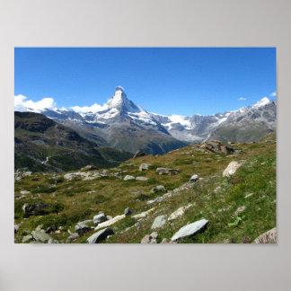 Poster Papier d'affiche suisse de valeur d'Alpes de