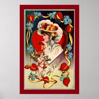 Papier d'affiche vintage de Madame My Valentine