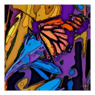 Poster Papillon de mosaïque