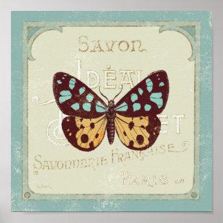 Poster Papillon modelé par cru