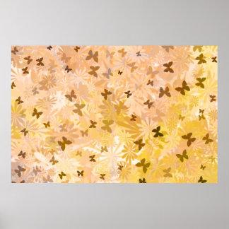 Poster Papillons et marguerites par Shirley Taylor