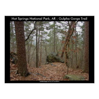 Poster Parc national de Hot Springs, AR - gorge de Gulpha
