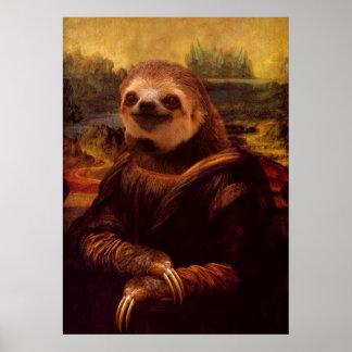Poster Paresse de Mona Lisa