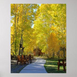 """Poster """"Passage couvert d'Aspen"""", portrait, automne"""