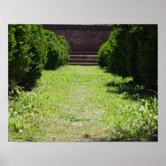 Poster Passage couvert de jardin