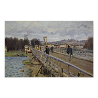Poster Passerelle d'Alfred Sisley | à Argenteuil