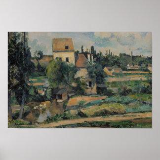 Poster Paul Cezanne - moulin sur le Couleuvre chez