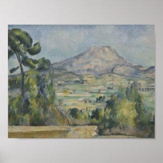 Poster Paul Cezanne - Saint-Victoire de Montagne