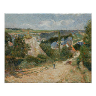 Poster Paul Gauguin - entrée au village d'Osny