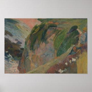 Poster Paul Gauguin - le joueur de flageolet sur la