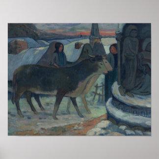 Poster Paul Gauguin - nuit de Noël