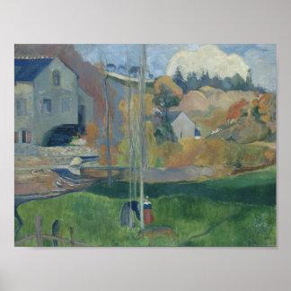Poster Paul Gauguin - paysage en Bretagne