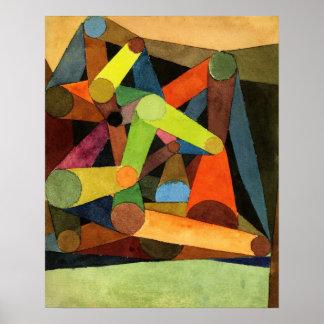 Poster Paul Klee a ouvert l'abrégé sur montagne