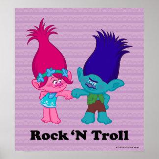 Poster Pavot des trolls | et branche - roche 'N Troll