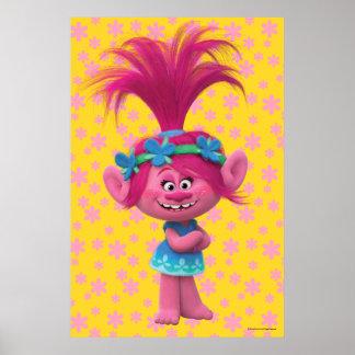 Poster Pavot des trolls | - reine des trolls 2
