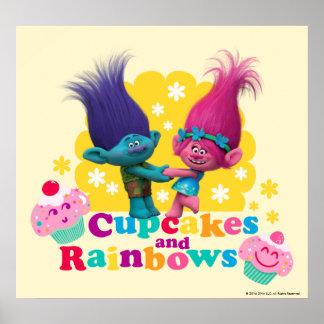 Poster Pavot et branche des trolls | - petits gâteaux et
