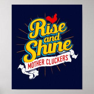 Poster Pays de coq de Cluckers de mère de hausse et