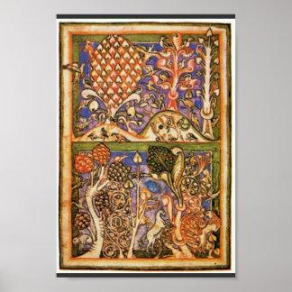 Poster Paysage de forêt par Meister Der Carmina Burana
