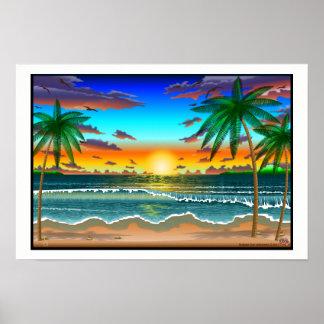 Poster Paysage de Lanscape de plage une affiche de