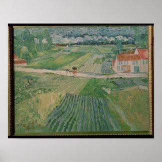 Poster Paysage de Vincent van Gogh | chez Auvers