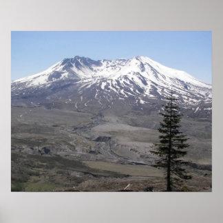 Poster Paysage de volcan du Mont Saint Helens
