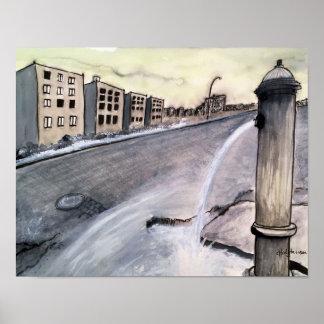 Poster Paysage urbain apocalyptique 2 - affiche