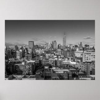 Poster Paysage urbain de l'affiche NY de Manhattan dans
