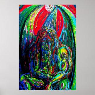 Poster Peinture à l'huile à ailes par fi de créature de