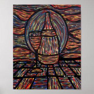 Poster Peinture abstraite de vin