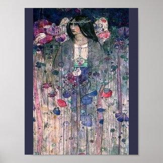 Poster Peinture anglaise de royaume des fées